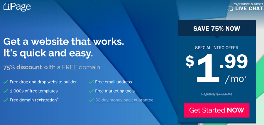 Build Your Website with a Free Domain Name | iPage Web Hosting